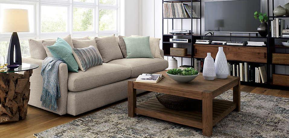 Canapé en tissu gris clair