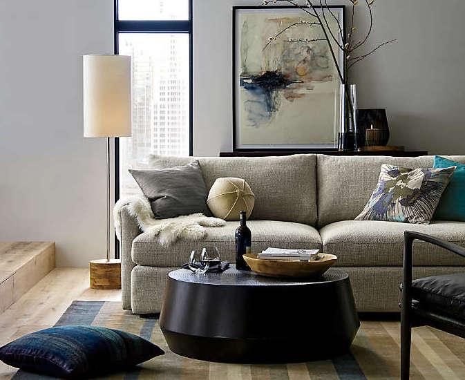 Canapé en tissu naturel - gris clair