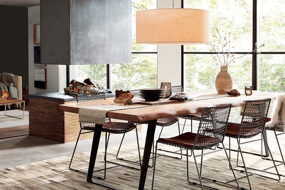 Déco table pour diner en bois naturel