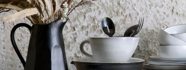 Décoration écologique - vaisselle noire
