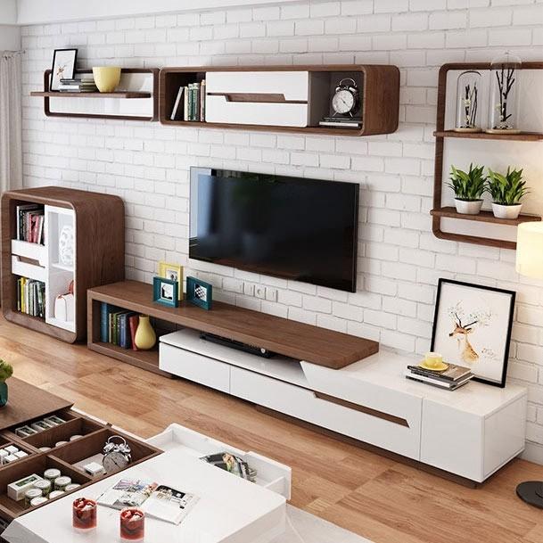 Commode bois naturel - meuble salon