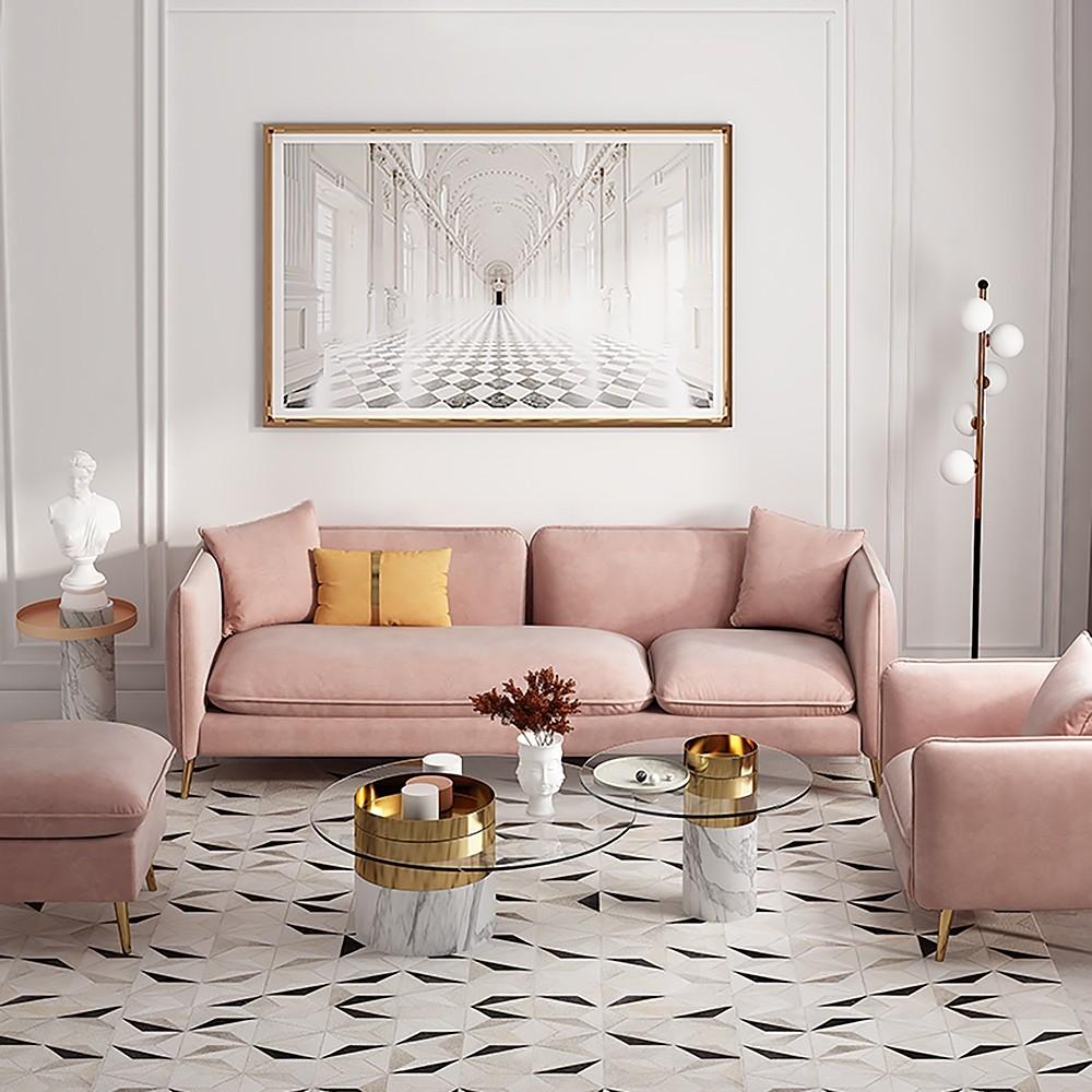 Canapé bio - canapé rose clair