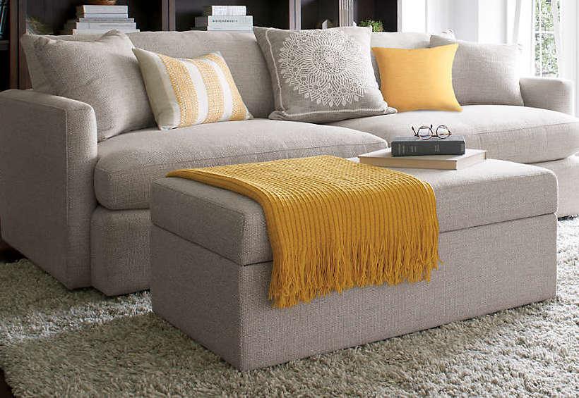 Blog mobiliers et décorations durables - canapé gris et couleurs jaunes